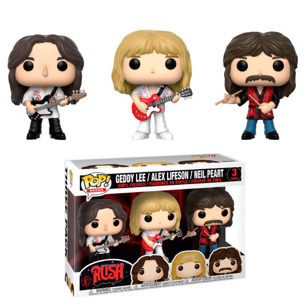 Rush Funko Pop! - Geddy Lee / Alex Lifeson / Neil Peart (3 Pack)